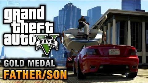 GTA 5 - Mission 4 - Father Son 100% Gold Medal Walkthrough