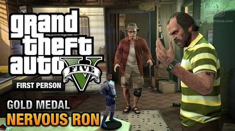 GTA 5 - Mission 19 - Nervous Ron First Person Gold Medal Guide - PS4