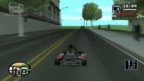 GTA San Andreas - Walkthrough - Street Race - Go-Go Karting (HD)