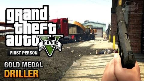 GTA 5 - Mission 77 - Driller First Person Gold Medal Guide - PS4