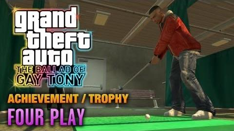 GTA The Ballad of Gay Tony - Four Play Achievement Trophy (1080p)