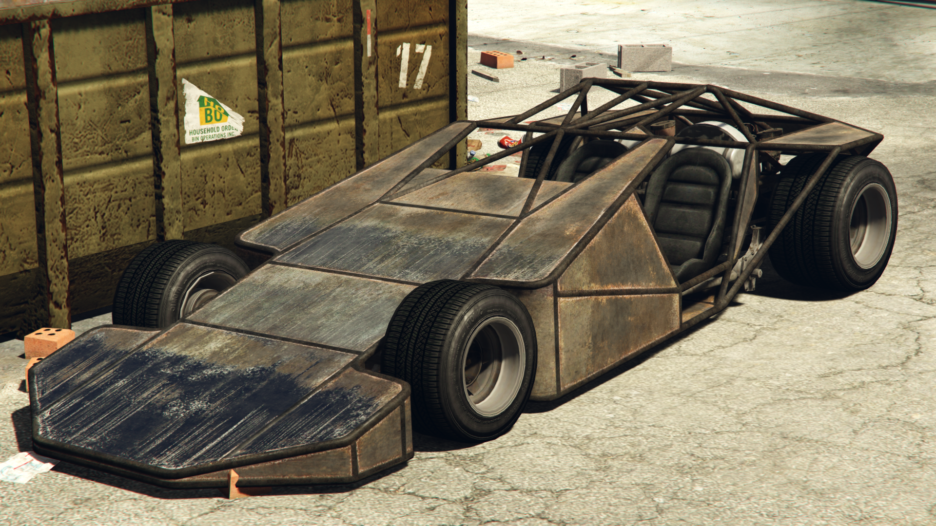 A Ramp Buggy In Grand Theft Auto OnlineRear Quarter View