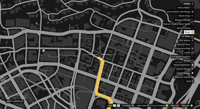 File:Vehicle Export Showroom GTAO Vinewood Garage Map.png