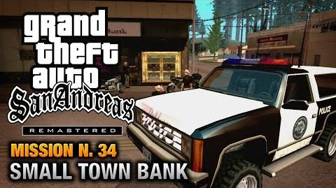 GTA San Andreas Remastered - Mission 34 - Made in Heaven Small Town Bank (Xbox 360 PS3)