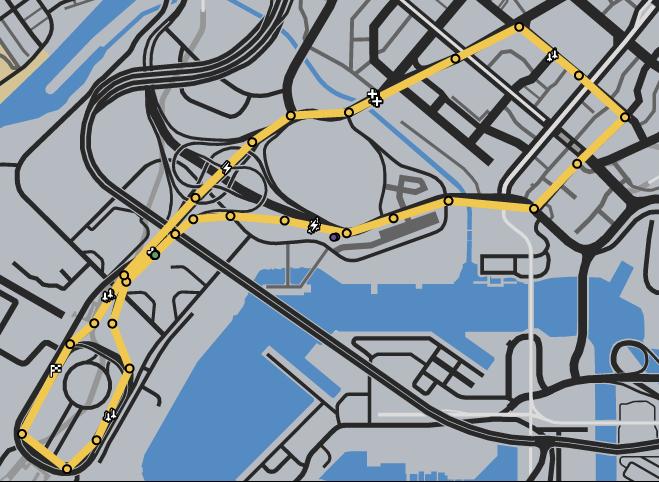 Stadium Tour GTAO Race Map