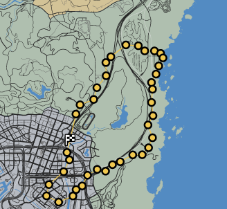 GTAO-Pylon Slalom Race Map