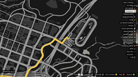 Vehicle Import Race Bet GTAO Casino to El Gordo Start Map