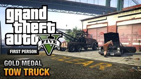 GTA 5 - Mission 38 - Tow Truck First Person Gold Medal Guide - PS4