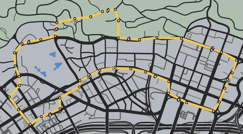 Vinewood Tours GTAO Race Map