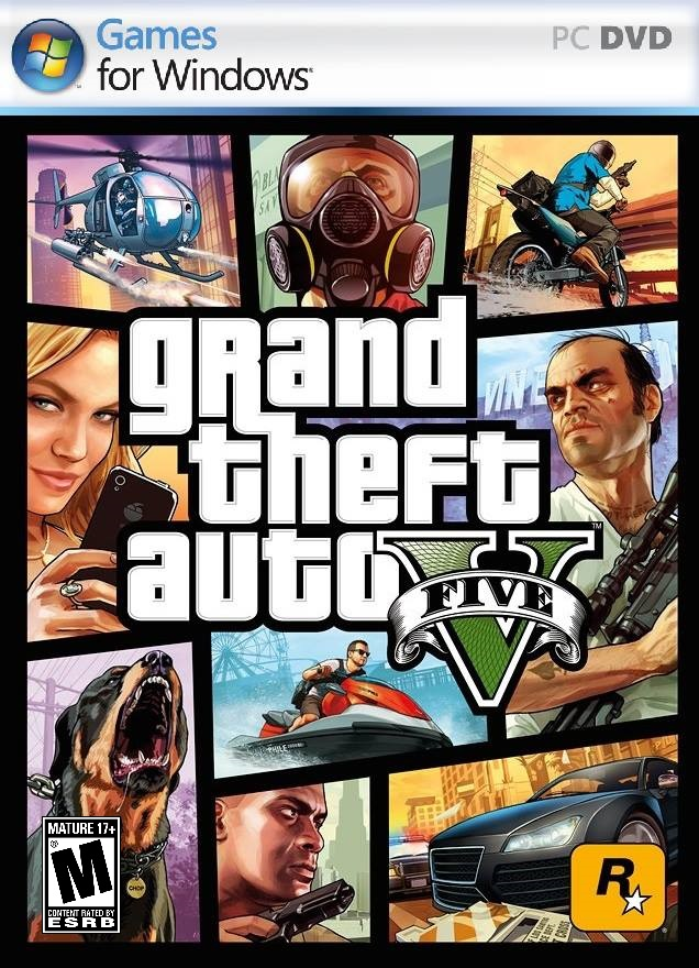 Image result for Grand Theft Auto V cover pc