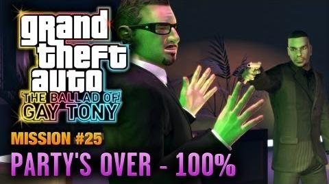 GTA The Ballad of Gay Tony - Mission 25 - Party's Over 100% (1080p)