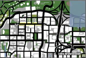 Vinewood Walk of Fame GTASA Map