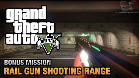 GTA 5 - Rail Gun Bonus Challenge - Shooting Range Gold Medals -PS4 & Xbox One-