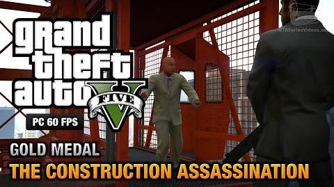 GTA 5 PC - Mission 48 - The Construction Assassination Gold Medal Guide - 1080p 60fps