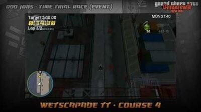 GTA Chinatown Wars - Walkthrough - Time Trial Race - Wetscapade TT - Course 4