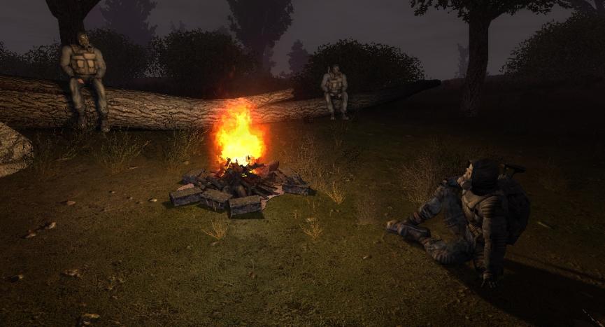Mercs campfire
