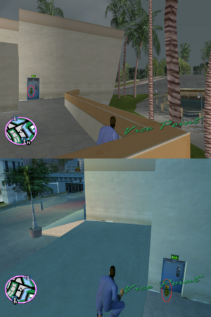 GTAVC HiddenPack 29 NW plaza by back door of Mercedes home