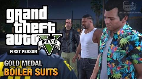 GTA 5 - Mission 35 - Boiler Suits First Person Gold Medal Guide - PS4