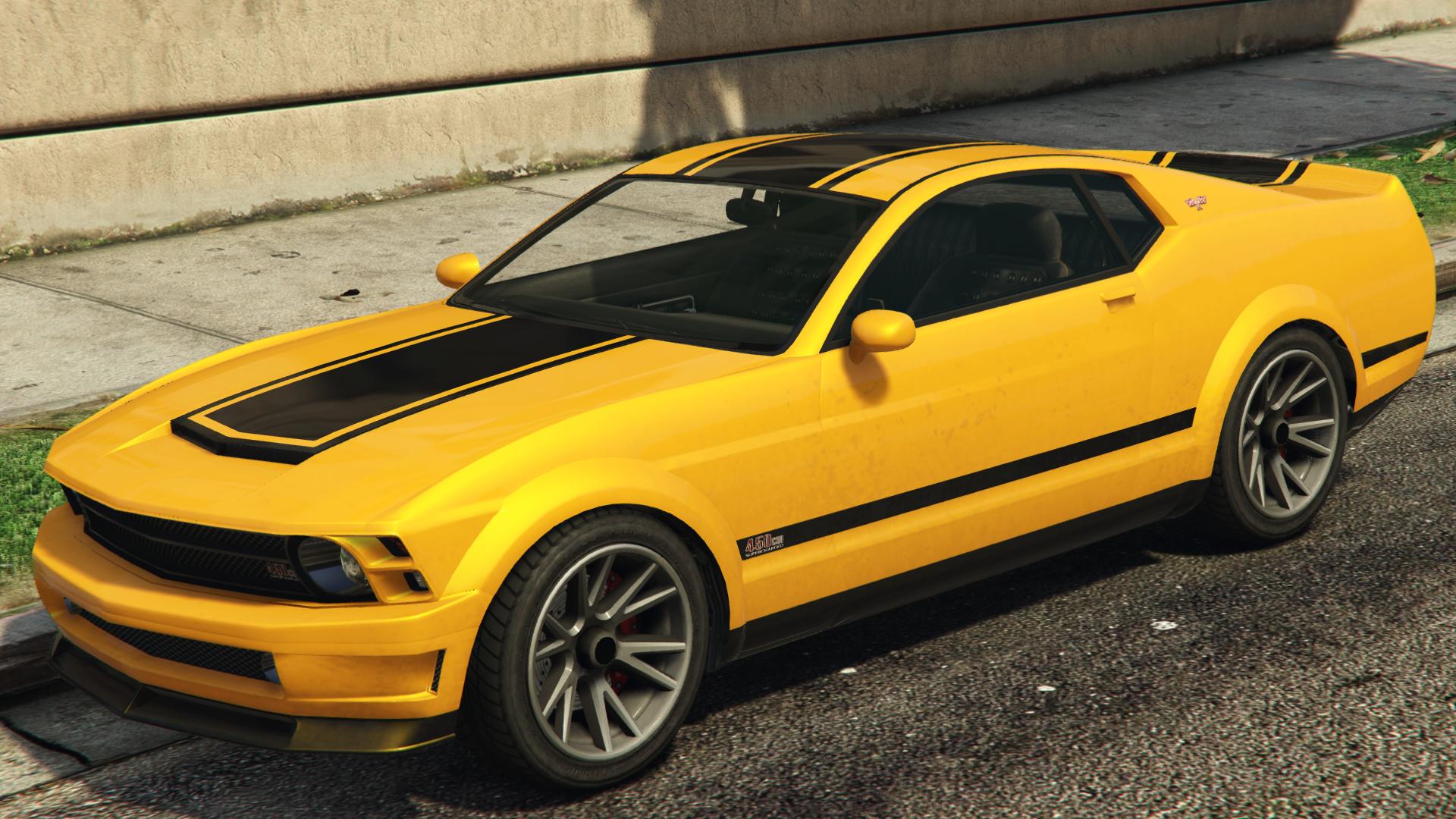 A Dominator In Grand Theft Auto V.(Rear Quarter View)