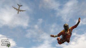 SkydivingFranklin-GTAV