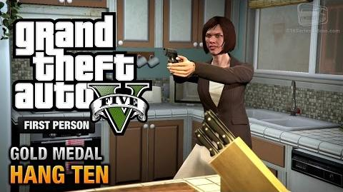 GTA 5 - Mission 55 - Hang Ten First Person Gold Medal Guide - PS4