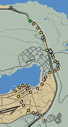 Senora Freeway GTAO Race Map