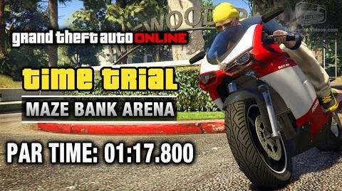 GTA Online - Time Trial 12 - Maze Bank Arena (Under Par Time)