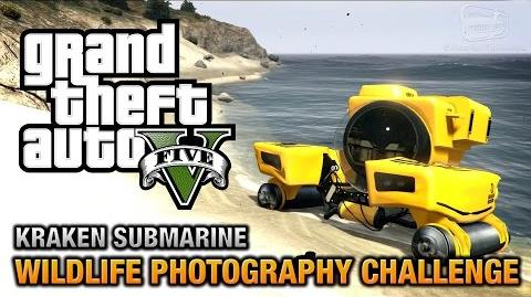 GTA 5 - Wildlife Photography Challenge (Kraken Submarine) PS4 & Xbox One