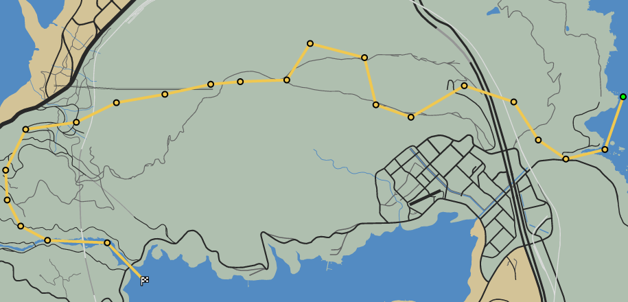 Over the Hill GTAO Race Map