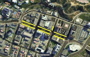 Vinewood Walk Of Fame GTAV Map