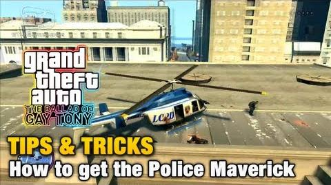 GTA The Ballad of Gay Tony - Tips & Tricks - How to get the Police Maverick