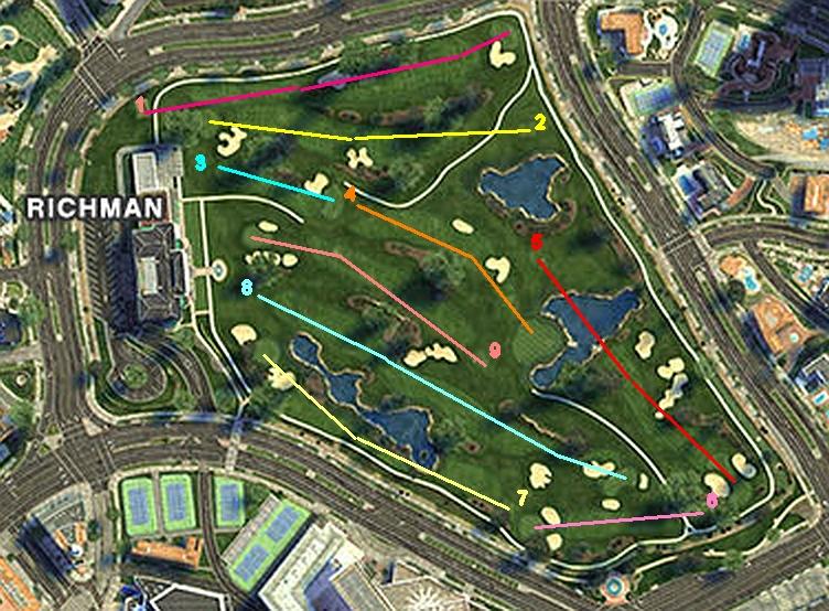 LosSantosGolfClub GTAV Satellite Course Layout