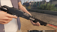 Pump Shotgun-GTAV-Markings
