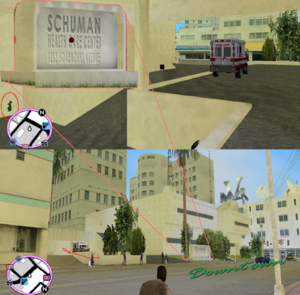 GTAVC HiddenPack 60 NW corner of underground ambulance park behind Schuman Helth Center