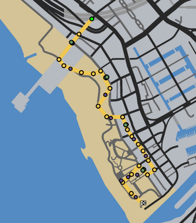 Cycle Path GTAO Race Map