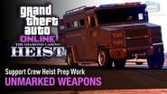 GTA Online The Diamond Casino Heist - Heist Prep Unmarked Weapons Solo (NOOSE Van)