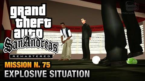 GTA San Andreas Remastered - Mission 75 - Explosive Situation (Xbox 360 PS3)