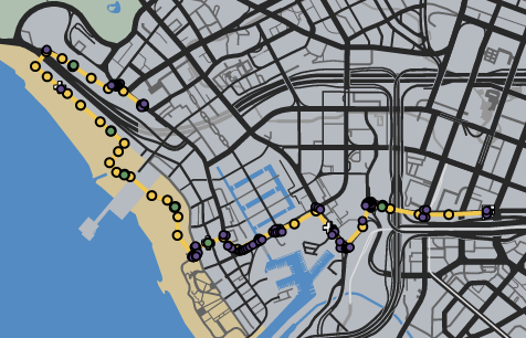 Tour De Santos GTAOe Race Map