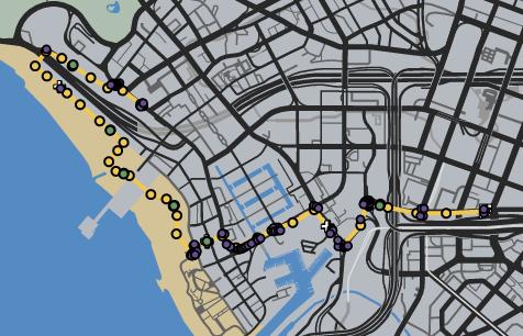Tour De Santos GTAOe Race Map