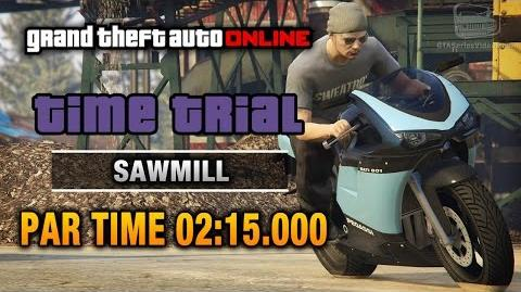 GTA Online - Time Trial 9 - Sawmill (Under Par Time)