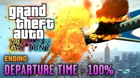 GTA The Ballad of Gay Tony - Ending Final Mission - Departure Time 100% (1080p)