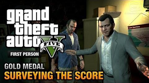 GTA 5 - Mission 56 - Surveying the Score First Person Gold Medal Guide - PS4
