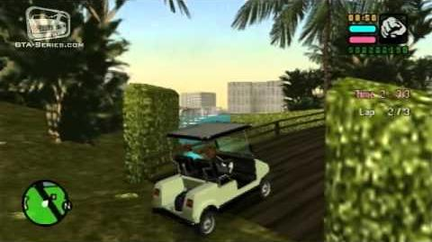 GTA Vice City Stories - Walkthrough - Caddy Daddy - Checkpoint Race PS2 Exclusive