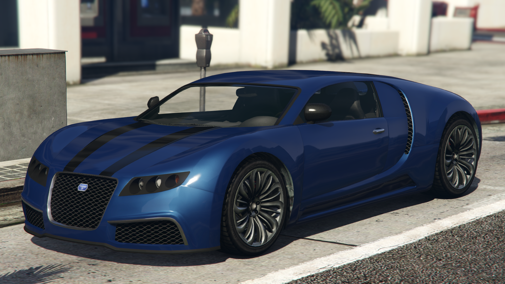 An Adder In Grand Theft Auto V.(Rear Quarter View)