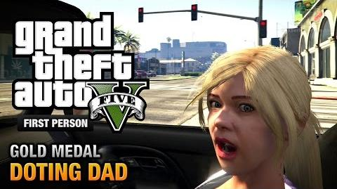 GTA 5 - Mission 64 - Doting Dad (Optional Mission) First Person Gold Medal Guide - PS4