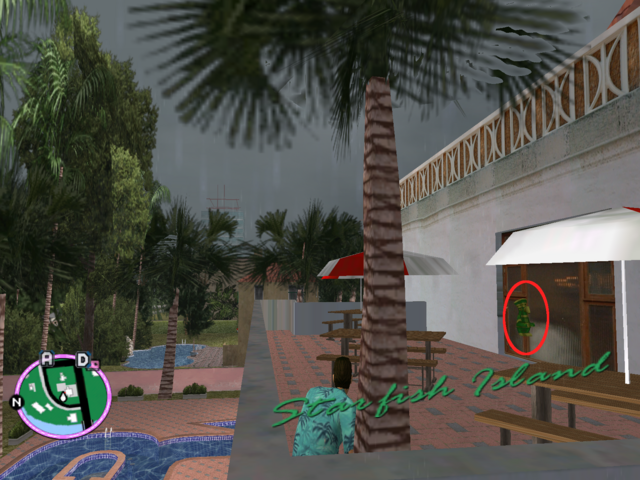 File:GTAVC HiddenPack 53 S upstairs patio of Rockstar logo pool W central house .png