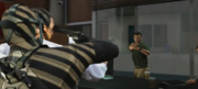 Michael threatening the target-GTAV