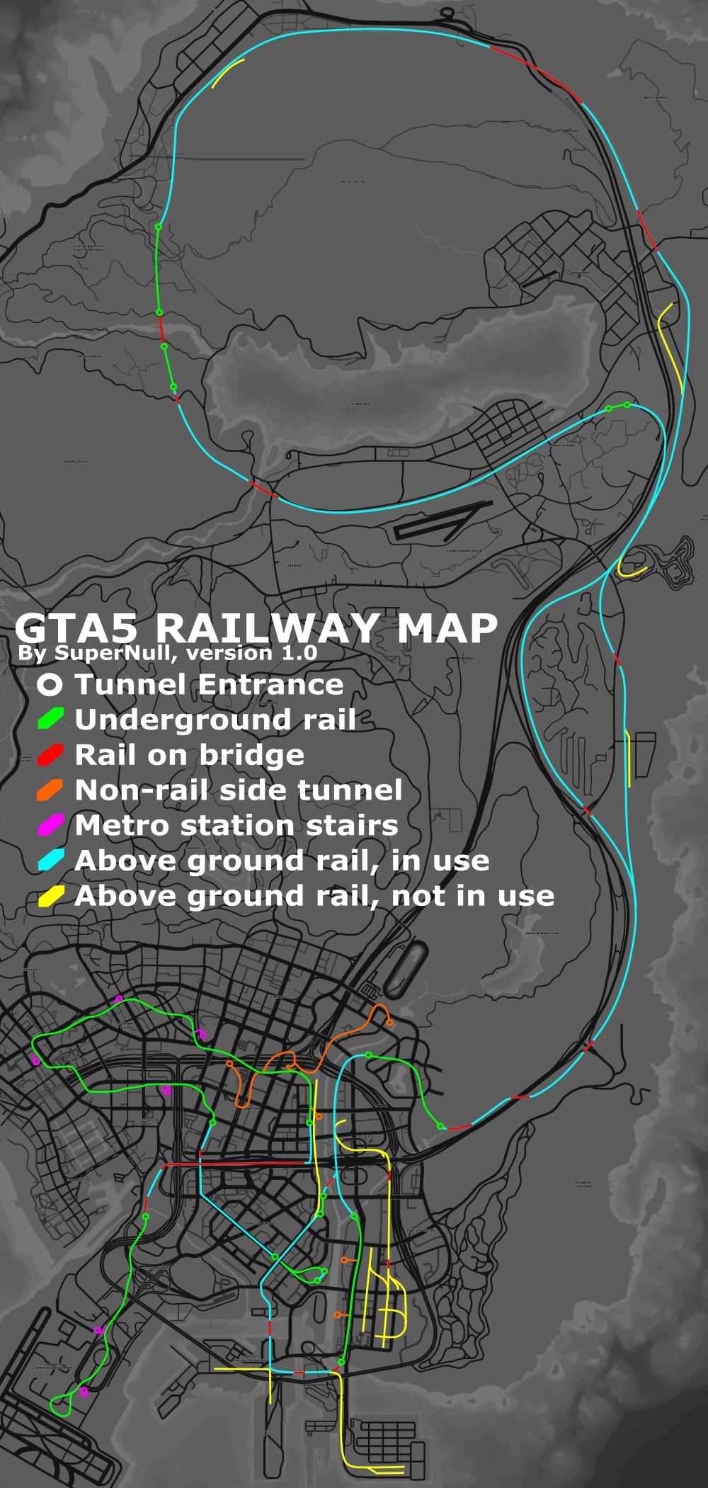 Image - Railways-GTAV-Map.png | GTA Wiki | FANDOM powered by Wikia