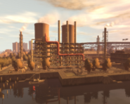Acter Nuclear Power Plant GTAIV from south at dawn