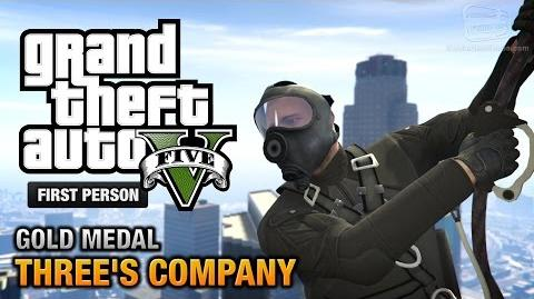 GTA 5 - Mission 24 - Three's Company First Person Gold Medal Guide - PS4